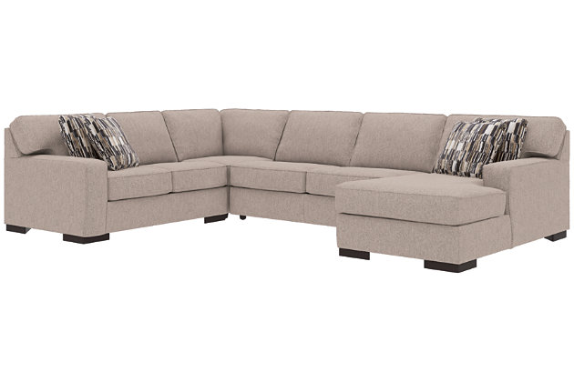 Wondrous Ashlor Nuvella 4 Piece Sleeper Sectional And Pillows Download Free Architecture Designs Terstmadebymaigaardcom