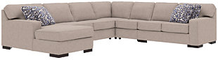 Ashlor Nuvella® 5-Piece Sleeper Sectional and Pillows, Slate, large