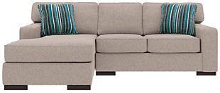 Ashlor Nuvella® 2-Piece Sectional and Pillows, Slate, large