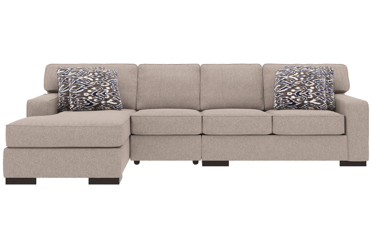Pleasant Ashlor Nuvella 3 Piece Sectional And Pillows Ashley Inzonedesignstudio Interior Chair Design Inzonedesignstudiocom