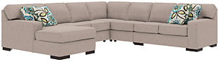 Ashlor Nuvella® 5-Piece Sectional and Pillows, Slate, rollover