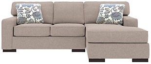 Ashlor Nuvella® 2-Piece Sectional and Pillows, Slate, rollover