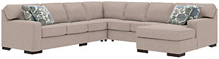 Ashlor Nuvella® 5-Piece Sectional and Pillows, Slate, large