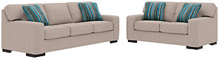 Ashlor Nuvella® Sofa, Loveseat and Pillows, Slate, rollover