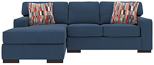 Ashlor Nuvella® 2-Piece Sectional and Pillows, Indigo, large