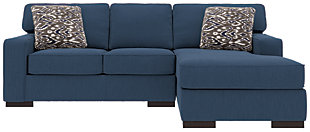 Ashlor Nuvella® 2-Piece Sectional and Pillows, Indigo, large