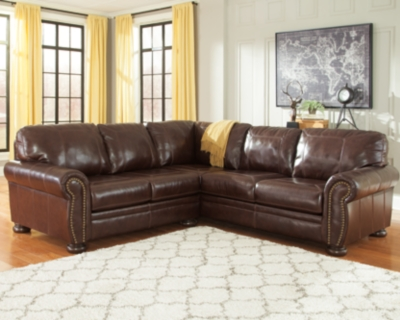 Sectional Coffee Leather Piece Product Photo 84