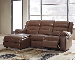 Coahoma 3-Piece Reclining Sectional with Chaise, , large