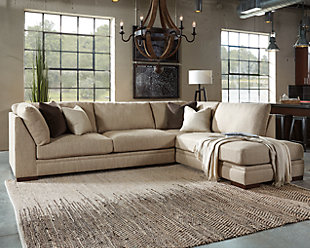 gray ashley piece in sectional sectionals sofas home collection furniture room cresson living