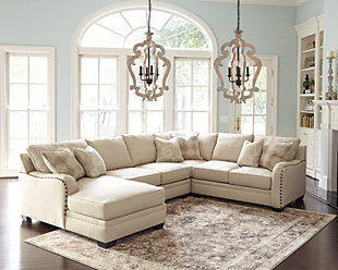 Luxora 4 Piece Sectional With Chaise Ashley Furniture Homestore