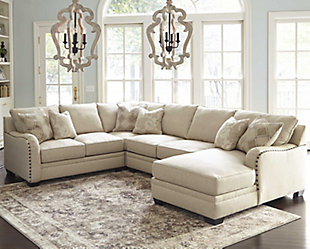 Large Luxora 4 Piece Sectional Rollover