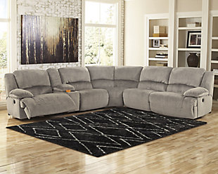 Toletta 6-Piece Reclining Sectional Non-Power, , rollover