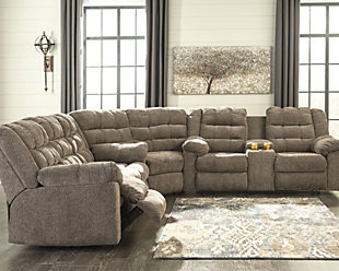 Workhorse 3-Piece Reclining Sectional, , rollover