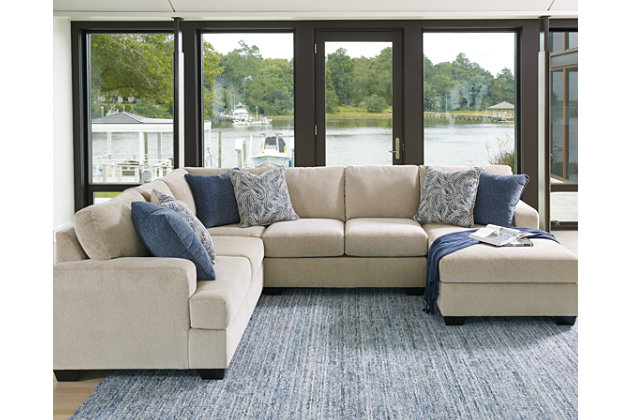 enola 4-piece loveseat sectional | ashley furniture homestore