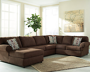 Jayceon 3-Piece Sectional with Chaise, Java, large