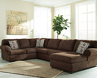 ... Large Jayceon 3 Piece Sectional, Java, Rollover