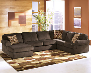 Vista 3-Piece Sectional, Chocolate, rollover