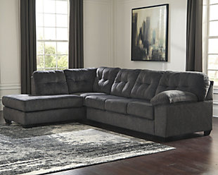 Accrington 2-Piece Sectional with Chaise, Granite, rollover