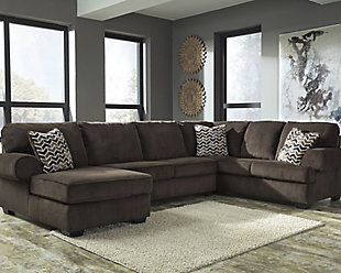 Jinllingsly 3-Piece Sectional, Chocolate, rollover