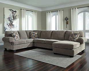 Jinllingsly 3-Piece Sectional with Chaise, Gray, rollover