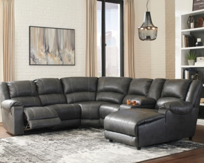 Brambleton 6-Piece Reclining Sectional with Chaise, , large