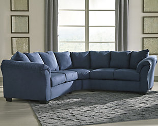 Darcy 2-Piece Sectional, Blue, large