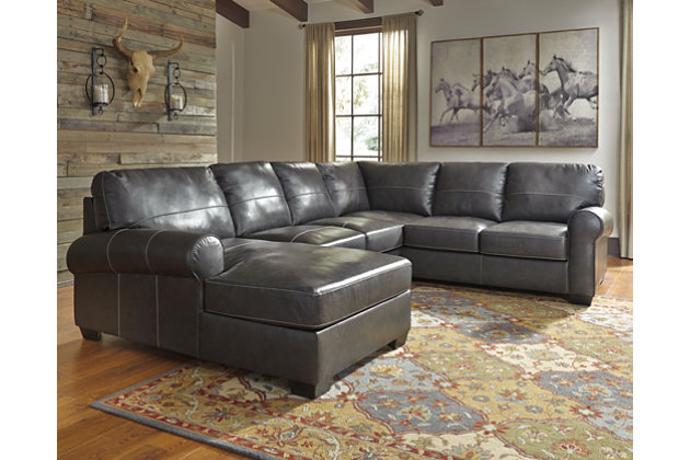 Gunmetal Norphlet 3 Piece Sectional View 1