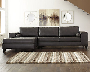 Nokomis 2-Piece Sectional with Chaise, Charcoal, rollover