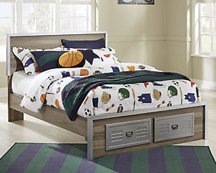 McKeeth Panel Bed with Storage, , rollover