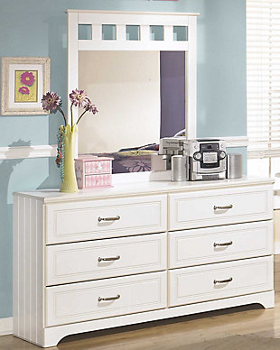 Lulu Dresser and Mirror, White, rollover