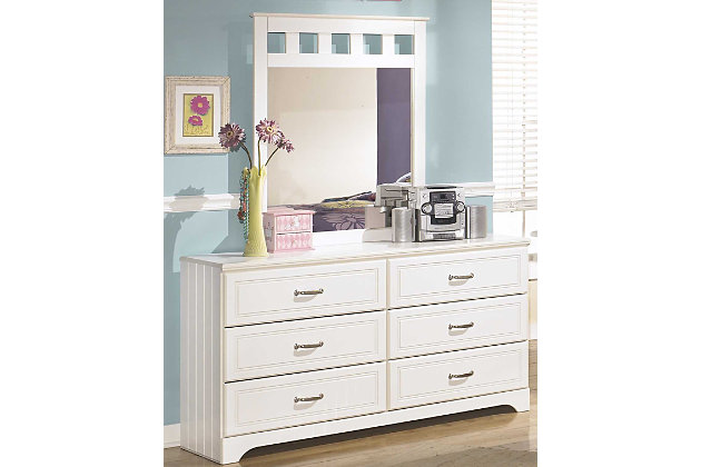 Lulu Dresser and Mirror, White, large