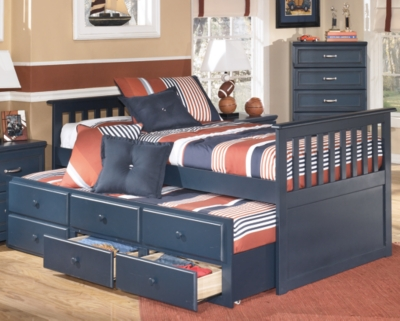 Ashley Leo Twin Trundle Bed, Blue