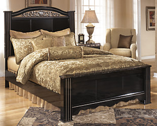 Constellations King Poster Bed, Black, rollover
