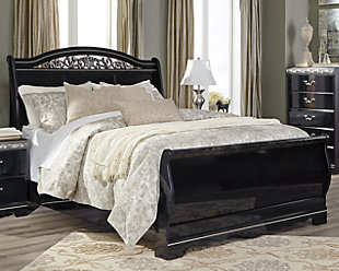 Constellations Queen Sleigh Bed, , rollover