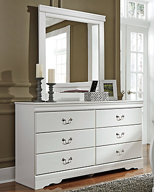 Anarasia Dresser and Mirror, White, rollover