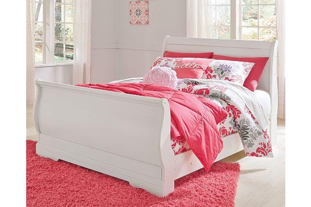 Anarasia Full Sleigh Bed by Ashley HomeStore, White