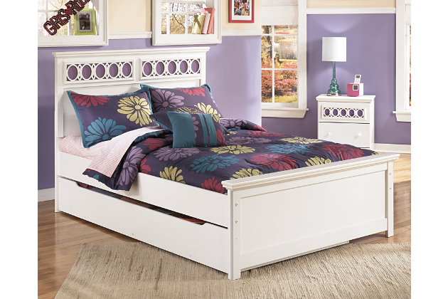 White Zayley Full Panel Bed with Storage View 1 - Zayley Full Panel Bed With Storage Ashley Furniture HomeStore