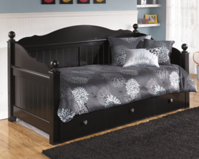 Day Bed Trundle Black Twin Product Photo 670