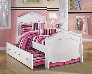 Exquisite Full Sleigh Bed with Trundle, , rollover