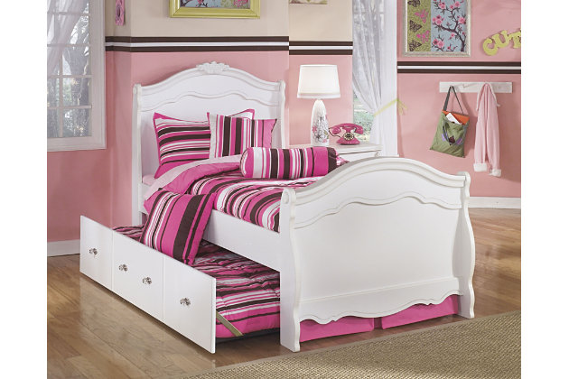 Exquisite Full Sleigh Bed with Trundle | Ashley Furniture HomeStore
