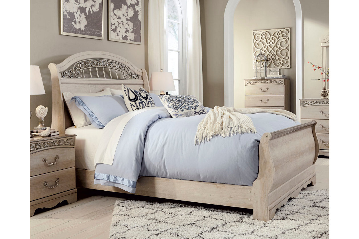 Catalina Queen Sleigh Bed Ashley Furniture Home