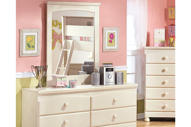 White Cottage Retreat Dresser and Mirror by Ashley HomeStore