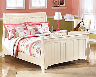 Cottage Retreat Full Sleigh Bed, Cream Cottage, rollover