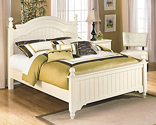Cottage Retreat Queen Poster Bed, Cream Cottage, rollover