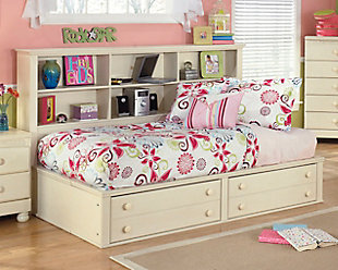 Cottage Retreat Twin Bookcase Bed, Cream Cottage, rollover