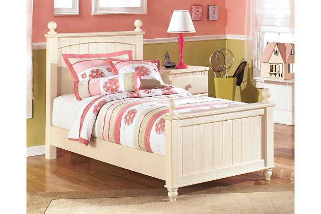Cottage Retreat Twin Poster Bed, Cream Cottage, Large ...