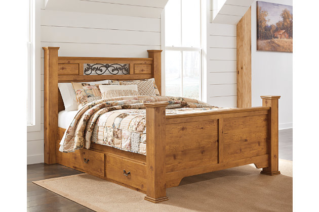 Bittersweet Queen Poster Bed Ashley Furniture Homestore