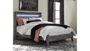 Baystorm Queen Panel Bed, Gray, rollover