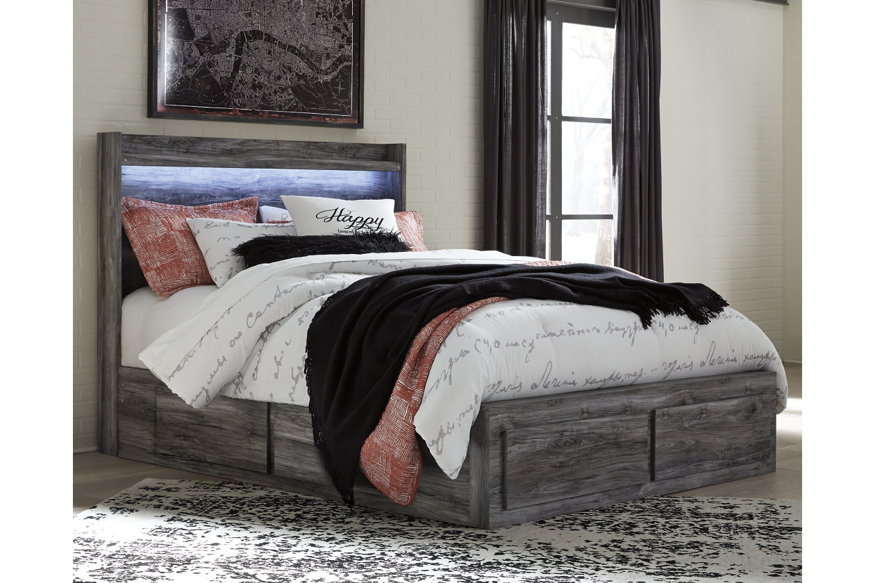 newest 2cec8 fec32 Baystorm Queen Panel Bed with 2-Storage | Ashley Furniture ...