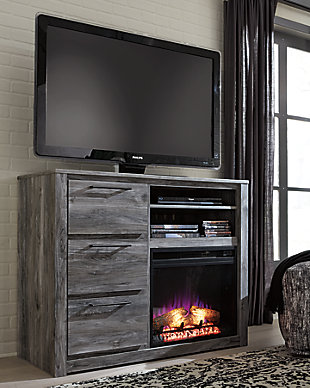 Baystorm Media Chest with Fireplace, , rollover
